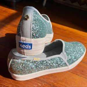 kate spade Shoes - Keds X Kate Spade Triple Decker Glitter Shoes 8.5